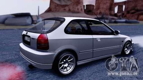 Honda Civic 1.6 Hatchback pour GTA San Andreas sur la vue arrière gauche