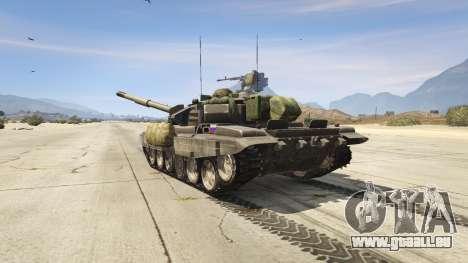GTA 5 T-90 hinten links Seitenansicht