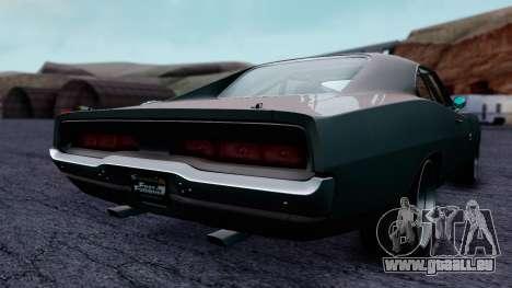 Dodge Charger RT 1970 FnF7 pour GTA San Andreas sur la vue arrière gauche