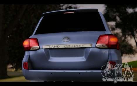 Toyota Land Cruiser 200 2013 Off Road für GTA San Andreas Rückansicht