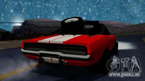 Dodge Charger 1969 Rusty Rebel pour GTA San Andreas laissé vue