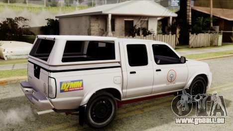 Nissan Frontier ABS CBN pour GTA San Andreas sur la vue arrière gauche