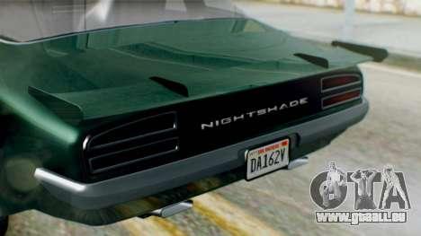 GTA 5 Imponte Nightshade pour GTA San Andreas vue de droite