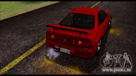 Nissan Skyline R-34 GT-R V-spec 1999 No Dirt pour GTA San Andreas vue intérieure