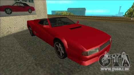 Cheetah Cabrio pour GTA San Andreas laissé vue