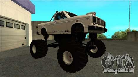 Bobcat Monster Truck pour GTA San Andreas laissé vue
