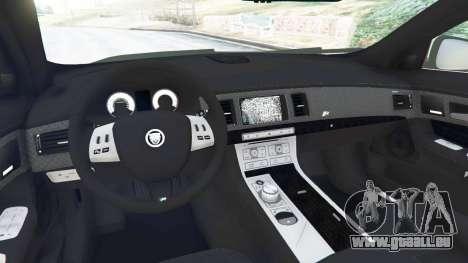 GTA 5 Jaguar XFR 2010 arrière droit vue de côté