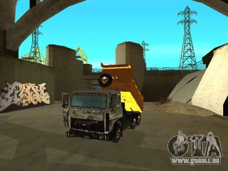 MAZ 551605-221-024 pour GTA San Andreas vue arrière
