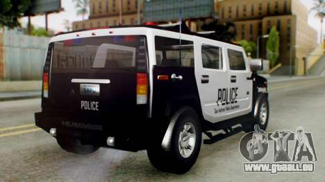 New Police Ranger für GTA San Andreas linke Ansicht
