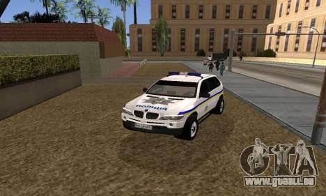 BMW X5 Ukranian Police pour GTA San Andreas vue de droite