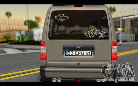 Ford Connect Rizeli pour GTA San Andreas vue intérieure
