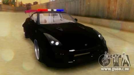 Nissan GT-R Police Rocket Bunny pour GTA San Andreas vue de droite