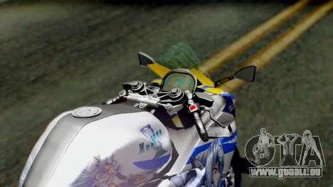 Yamaha YZF R-25 Kos-Mos Xenosaga Itasha 2014 pour GTA San Andreas vue arrière
