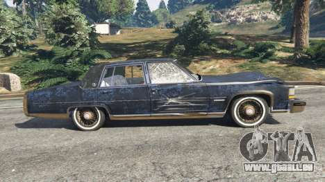 GTA 5 Cadillac Fleetwood Brougham 1985 [rusty] linke Seitenansicht