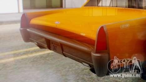 GTA 5 Vapid Chino Tunable pour GTA San Andreas vue intérieure