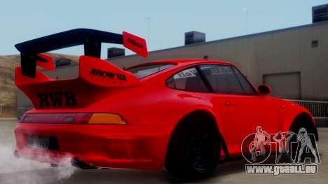 Porsche 993 GT2 RWB Rough Rhythm pour GTA San Andreas laissé vue
