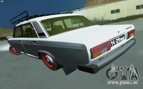 VAZ 2105 pour GTA San Andreas pour GTA San Andreas laissé vue