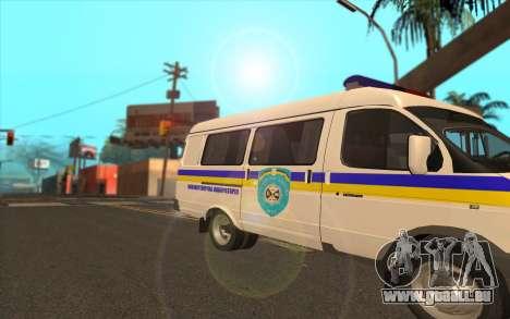 GAZelle 2705 Minesweeper Ukraine Fest für GTA San Andreas zurück linke Ansicht
