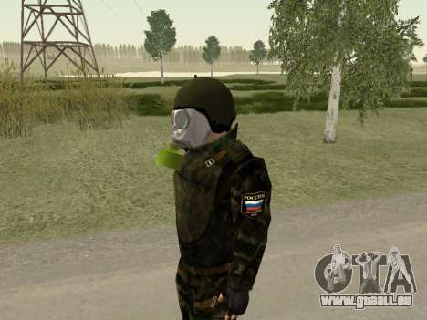 Russische Soldaten in der gas-Maske für GTA San Andreas zweiten Screenshot