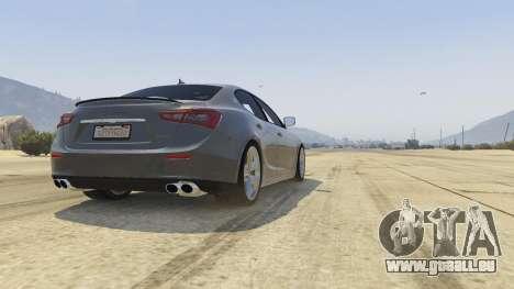 Maserati Ghibli S für GTA 5