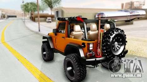 Jeep Wrangler Off Road für GTA San Andreas linke Ansicht