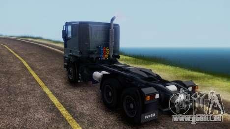 Iveco EuroTech v2.0 Cab Low pour GTA San Andreas sur la vue arrière gauche