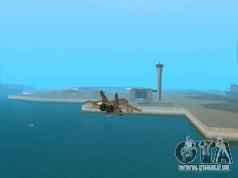 Die MiG-25 für GTA San Andreas Rückansicht