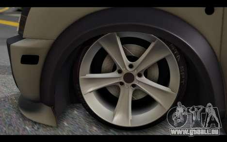 Ford Connect Rizeli pour GTA San Andreas sur la vue arrière gauche