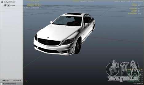 GTA 5 2010 CL65 Mercedes-Benz AMG rechte Seitenansicht