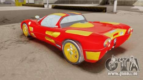 Ferrari P7-2 Iron Man pour GTA San Andreas sur la vue arrière gauche