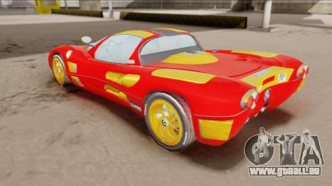 Ferrari P7-2 Iron Man für GTA San Andreas zurück linke Ansicht