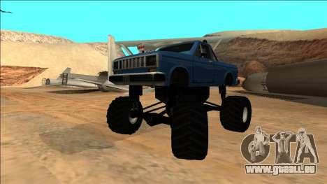 Bobcat Monster Truck pour GTA San Andreas vue intérieure