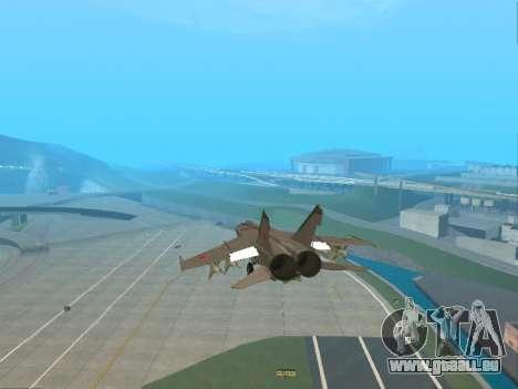 Die MiG-25 für GTA San Andreas Seitenansicht