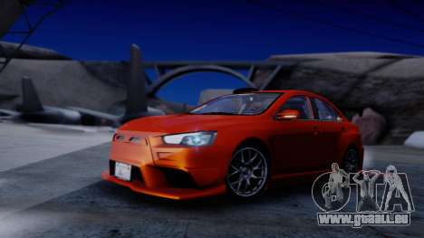 Mitsubishi Lancer Evolution X Tunable New PJ für GTA San Andreas Innenansicht