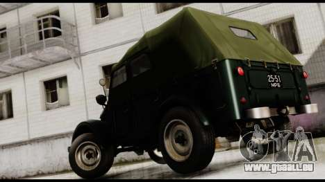 GAZ-69A pour GTA San Andreas laissé vue