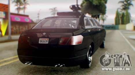 GTA 5 Benefactor Stretch E Turreted für GTA San Andreas linke Ansicht
