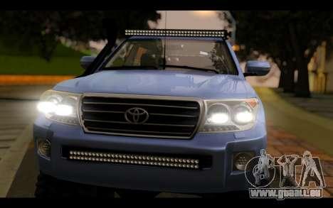 Toyota Land Cruiser 200 2013 Off Road für GTA San Andreas rechten Ansicht