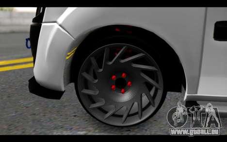 Fiat Doblo pour GTA San Andreas sur la vue arrière gauche