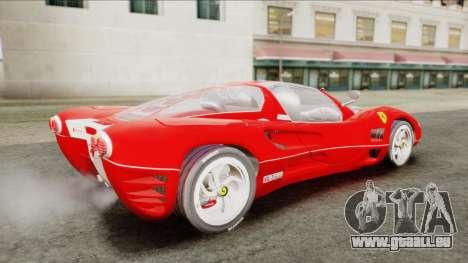 Ferrari P7 Chromo für GTA San Andreas zurück linke Ansicht