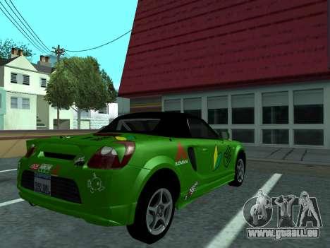 Toyota MR-S Tunable für GTA San Andreas rechten Ansicht