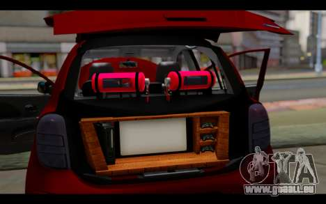 Nissan March 2011 Hellaflush pour GTA San Andreas salon