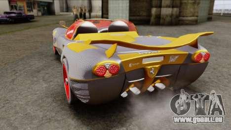 Ferrari P7 Carbon pour GTA San Andreas sur la vue arrière gauche
