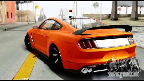 Ford Mustang Shelby GT350R 2016 pour GTA San Andreas laissé vue