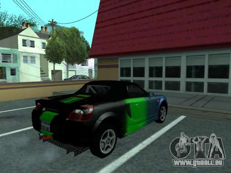 Toyota MR-S Tunable für GTA San Andreas obere Ansicht
