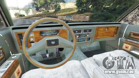 GTA 5 Cadillac Fleetwood Brougham 1985 [rusty] hinten rechts