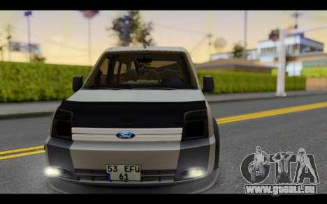 Ford Connect Rizeli für GTA San Andreas Rückansicht
