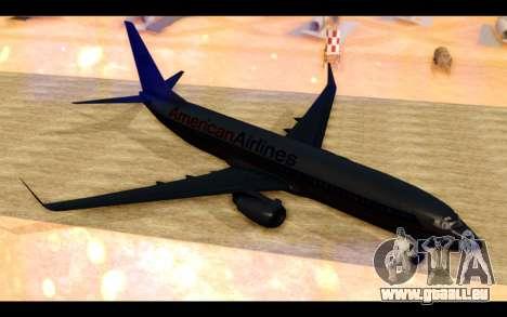 Boeing 737-800 American Airlines pour GTA San Andreas laissé vue