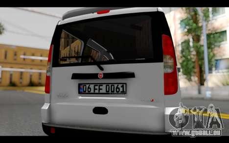 Fiat Doblo pour GTA San Andreas vue intérieure