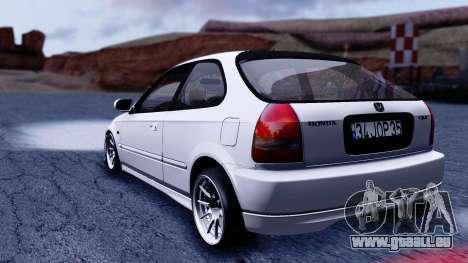 Honda Civic 1.6 Hatchback pour GTA San Andreas laissé vue