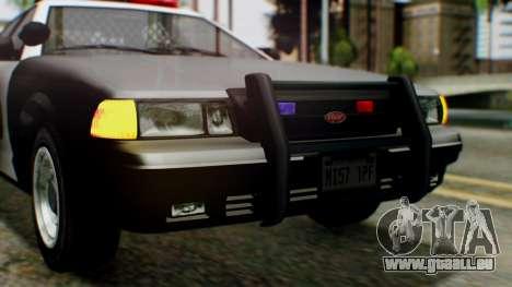 GTA 5 Police LV pour GTA San Andreas vue de côté